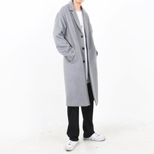 [Nar_Yoke] Overfit Single Long Coat - Light Gray