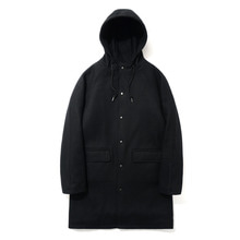 [파르티멘토]Wool Hooded Coat Black