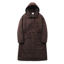 [파르티멘토]Hoody Check Long Coat