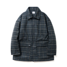 [파르티멘토]Check Short Coat Navy