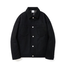 [15%할인][파르티멘토]Wool Trucker Jacket Black