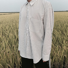 [4BLESS] Unbalance Stripe 2way Shirt White