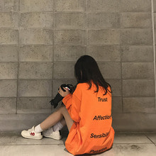 [4BLESS] Logo Long Sleeve Orange