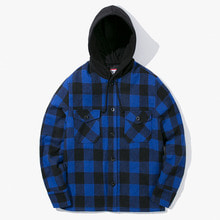 [Have a good time] FW17 Hooded Flannel Jacket - Blue