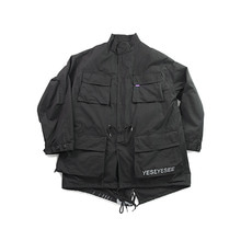 [YESEYESEE]Y.E.S Multi Fishtail Parka Black