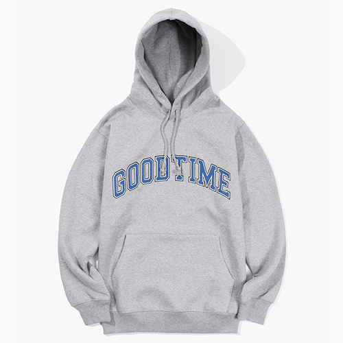 [Have a good time] College Logo Pullover Hoodie - Heather Grey