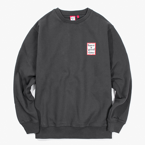[Have a good time] Mini Frame Crewneck - Charcoal