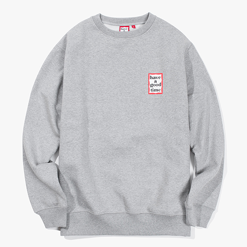 [Have a good time] Mini Frame Crewneck - Heather Grey