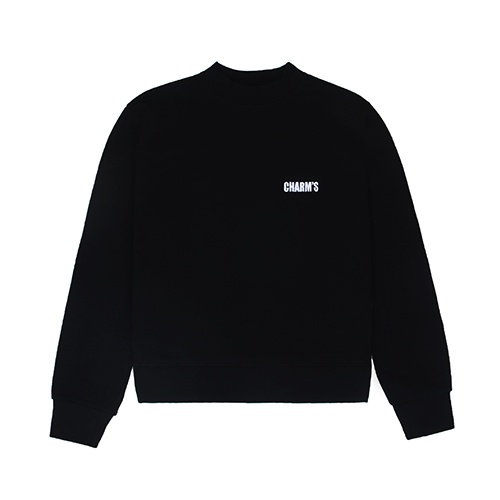 [CHARM'S] Basic small logo sweatshirt - BK