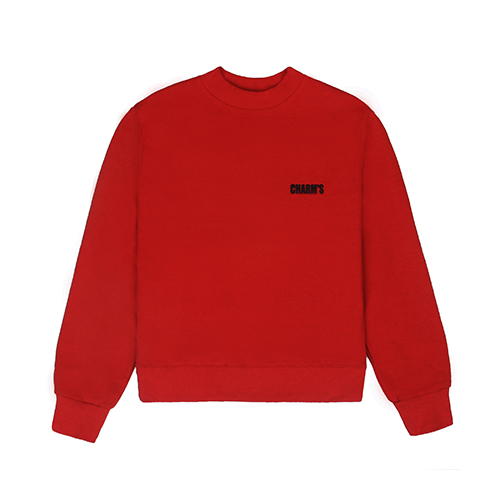 [CHARM'S] Basic small logo sweatshirt - RE