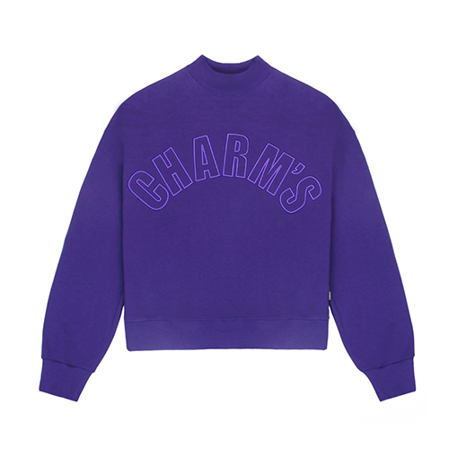 [CHARM'S] Half high neck sweatshirt - PU
