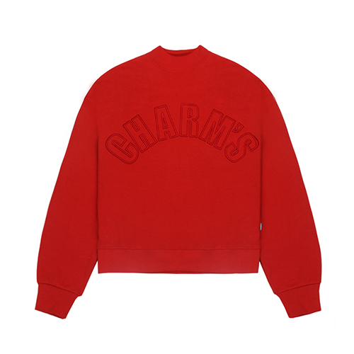 [CHARM'S] Half high neck sweatshirt - RE