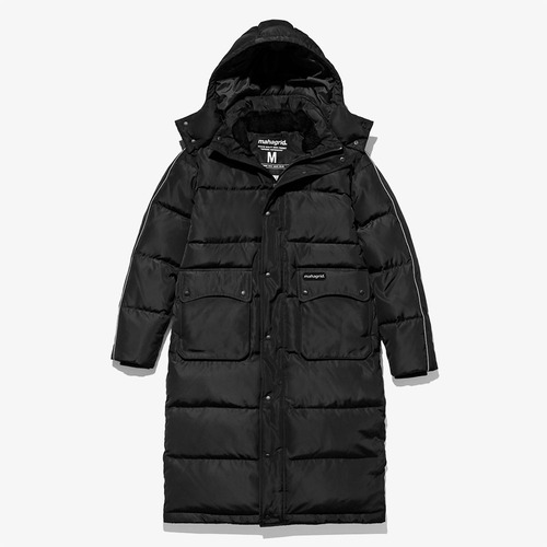 [MAHAGRID] VULCAN LONG DOWN PARKA BLACK