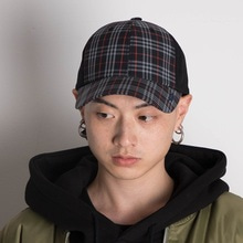 [더블 아드레날린 신드롬] Signature buckle ballcap - CHECKBLACK