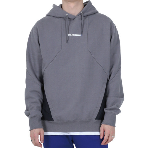 [40% OFF][RENDEZVOUZ] LINE LOGO HOODIE - WASHED GREY