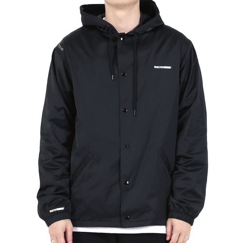 [40% OFF][RENDEZVOUZ] GEMINI AGENA HOODED COACH JACKET - BLACK