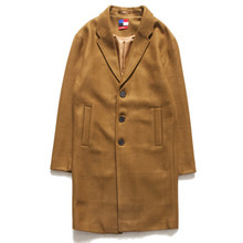 [OURHISTORY]Single Long Coat_Brown