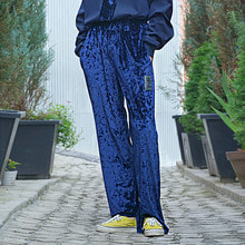 [60%할인][YOUOMYOUO] Velour Straight Pants - Blue