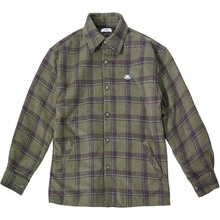 [30%할인][Double adrenaline syndrome]Padding check shirts - Khaki