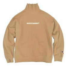 [30%할인][Double adrenaline syndrome]Hashtag turtleneck sweatshirt - Beige