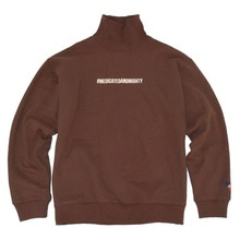 [30%할인][Double adrenaline syndrome]Hashtag turtleneck sweatshirt - Chocobrown