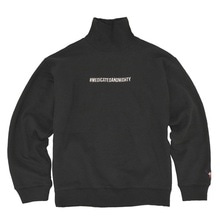 [30%할인][Double adrenaline syndrome]Hashtag turtleneck sweatshirt - Black