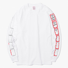 [Have a good time] FW17 Animation Frame L/S Tee - White