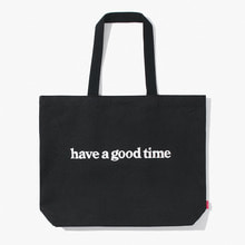 [Have a good time] FW17 Side Logo Tote Bag - Black