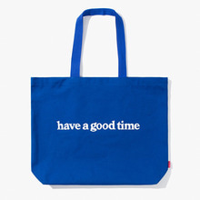 [Have a good time] FW17 Side Logo Tote Bag - Blue