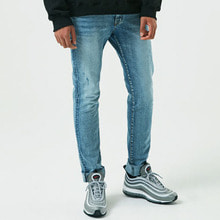 [10%할인][ALLEYESONYOU] Light Blue Slim Jeans - Denim