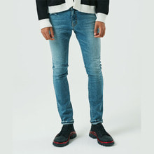 [10%할인][ALLEYESONYOU] Medium  Blue Slim Jeans - Denim