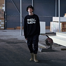 [50%할인][SPECIALGUEST]BASIC CREW NECK - LOGO BK