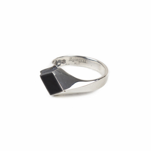 [AGINGCCC]223# 92.5 SILVER ONYX RING-OD