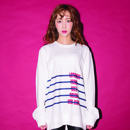 [20%할인] [AROUND80] CITY-STRIPE SWEAT SHIRT_WHITE