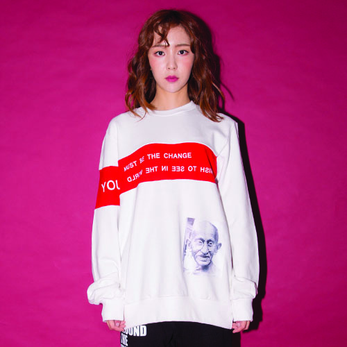 [20%할인] [AROUND80]GANDHI SWEAT SHIRT_WHITE
