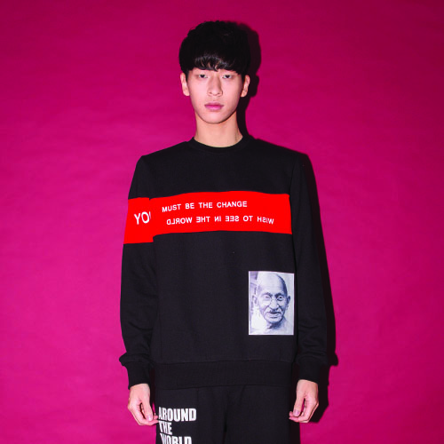 [20%할인] [AROUND80]GANDHI SWEAT SHIRT_BLACK