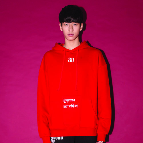 [20%할인] [AROUND80] THREE-POCKET HOODIE_RED
