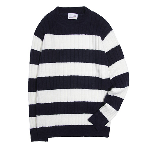 [49% sale] [WOLPENDER] (Unisex) Stripe Turtle-Neck Knit