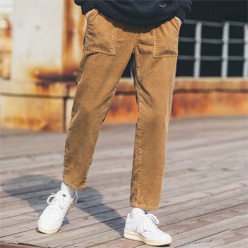 [50% sale] [WOLPENDER] (Man) Corduroy Fatigue Banding Pants