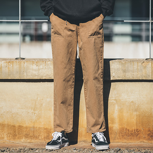 [53% sale] [WOLPENDER] (Man) Budding Fatigue Wide Banding Pants