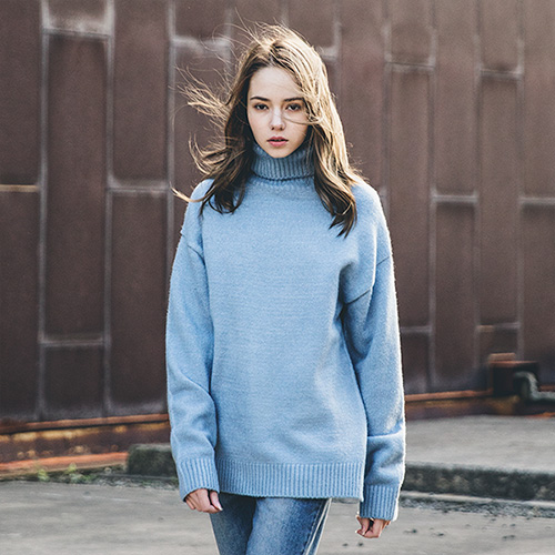 [60% sale] [WOLPENDER] (Unisex) Warm Overfit Turtle-Neck Knit