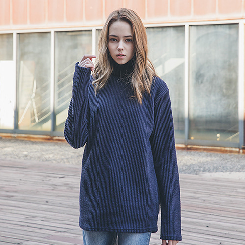 [62% sale] [WOLPENDER] (Unisex) Planning Rib Turtle-Neck Knit