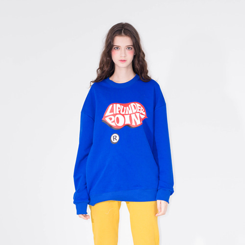[20%할인] [LIPUNDERPOINT] LOGO SWEAT SHIRTS_COBALT BLUE