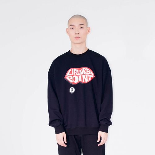 [20%할인] [LIPUNDERPOINT] LOGO SWEAT SHIRTS_BLACK