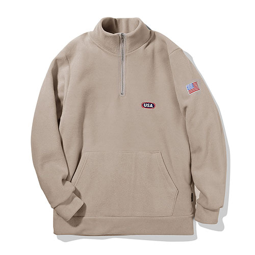 [TENBLADE] USA athletics Fleece Zipup_Cream