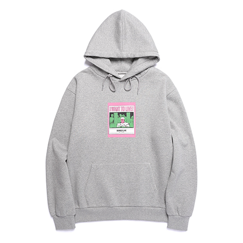 [30%OFF] [Buried Alive] Ba I Want To Live Hoodie Grey