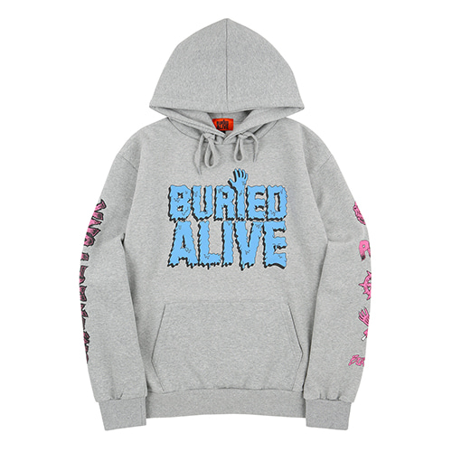 [30%OFF] [Buried Alive] Ba X Op Punk Melty Logo Hoodie Grey