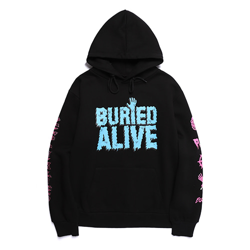 [30%OFF] [Buried Alive] Ba X Op Punk Melty Logo Hoodie Black