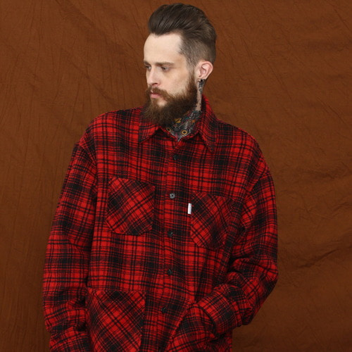 [MELROY] Bello Check Jacket - Red