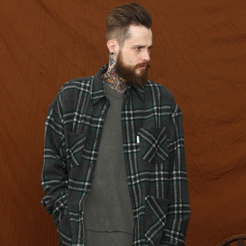 [MELROY] Mar Check Jacket - Green